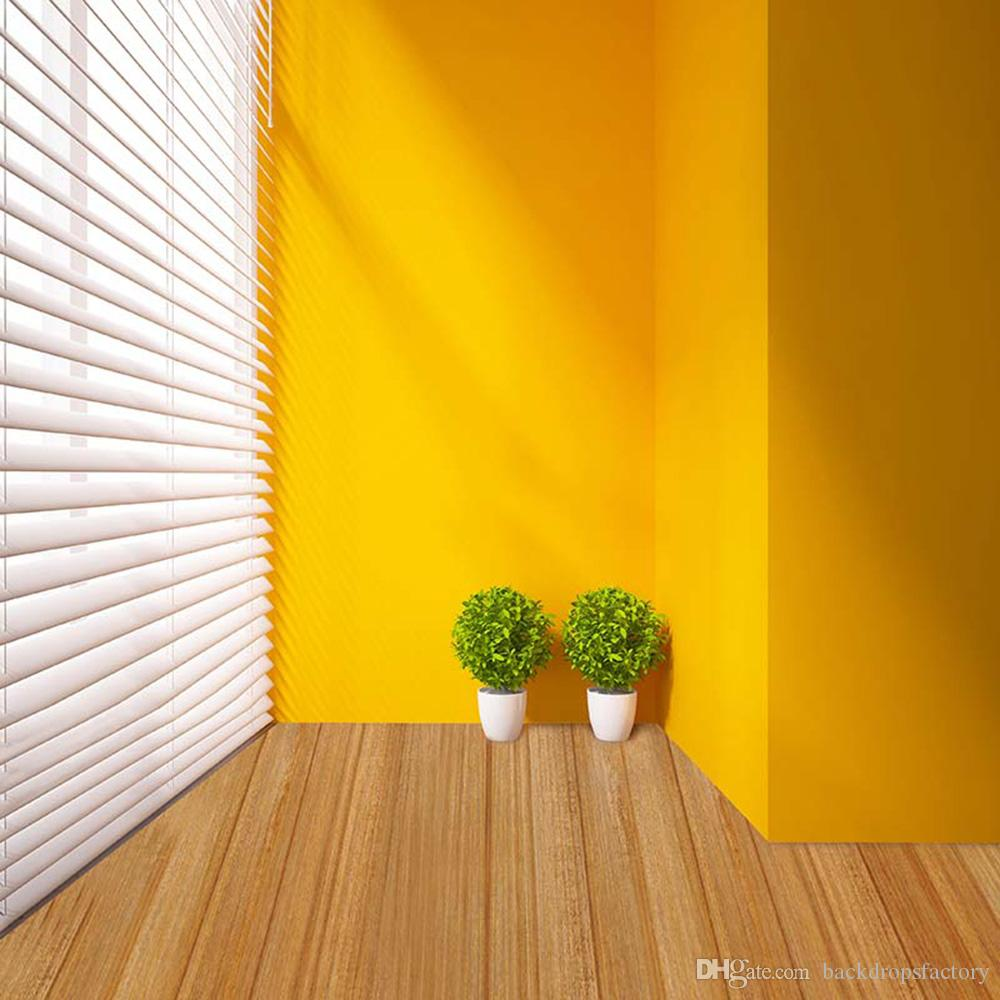2018 Indoor Photo Backdrop Backgrounds For Children Solid Yellow ...