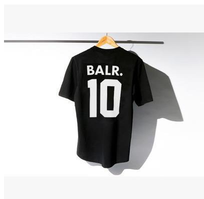 2016 mens t-shirt manches courtes hiphop BALR t-shirt 100% coton 5 couleurs XXL livraison gratuite