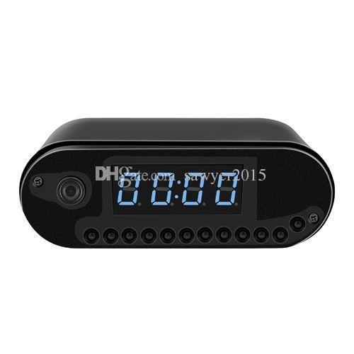 WIFI Clock IP Network camera HD 1080P H.264 Night Vision Clock Video Camera alarm clock pinhole Camera home security camcorder