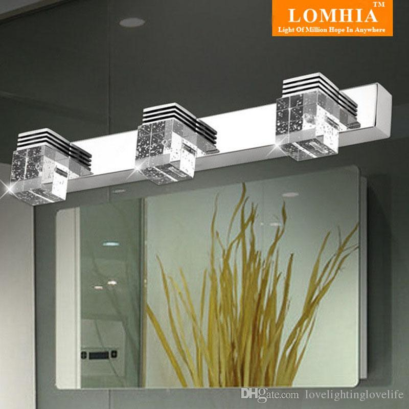 Modern 9W LED k9 Crystal Mirror Light Wall Bathroom Lights Sconce Lamp Room Ac 90-260v vanity lighting fixtures new