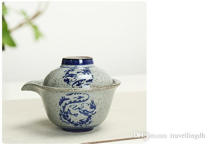 High Quality Kung Fu Tea Set A Pot A Cup Of Blue And White Porcelain A Personal Office Ceramic Tea Cup To Travel