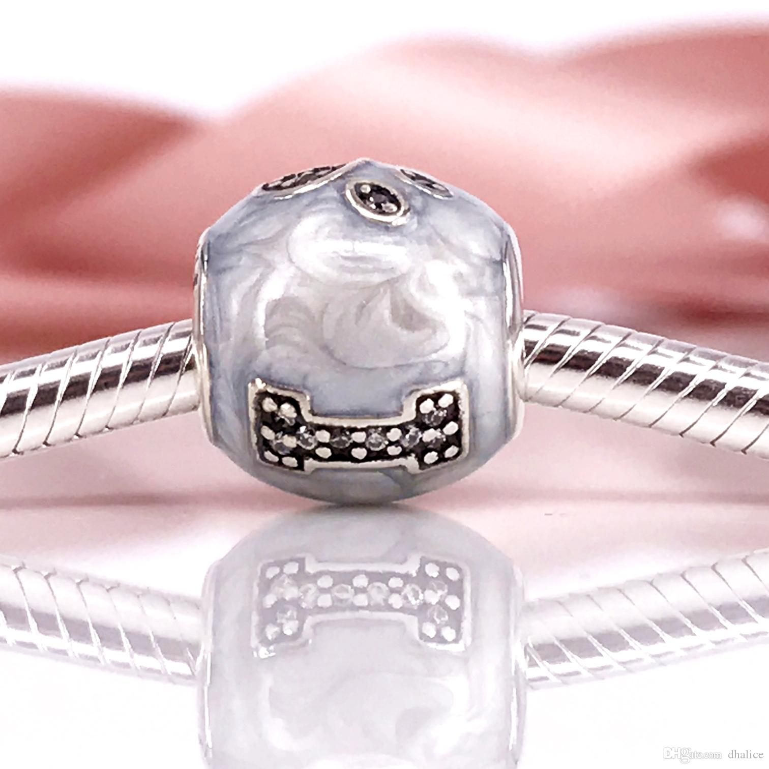 d117ee2fa Authentic 925 Sterling Silver I Love My Pets, Clear CZ Charm Fit DIY ...