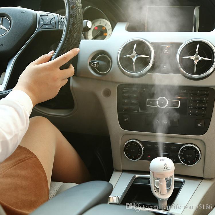 New Hot Quality Car Plug Air Humidifier Purificador, Veículo Óleo Essencial Ultrasonic Umidifier Aroma Névoa Fragrância Do Carro Difusor