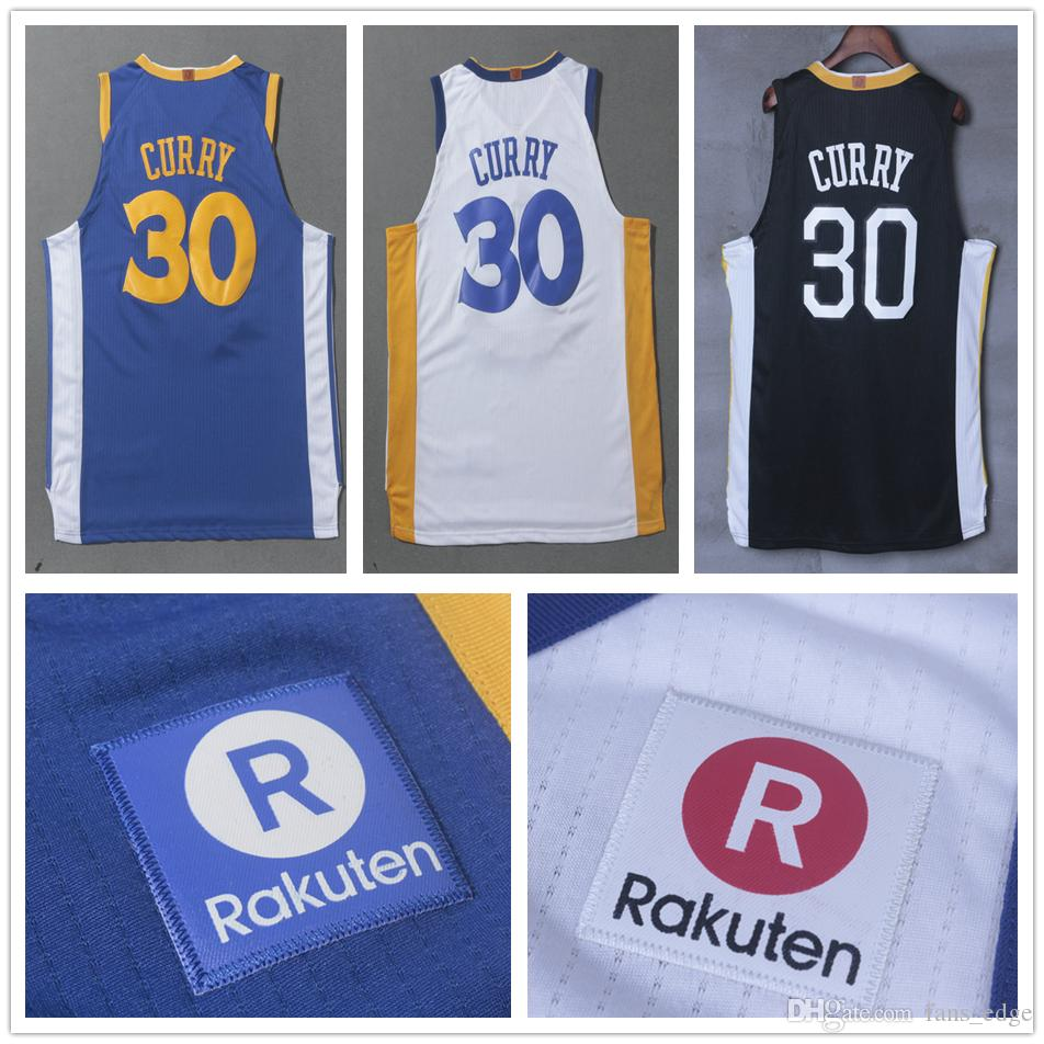 11951956e ... 2017 2017 2018 New Style Mens 30 Stephen Curry Jersey Home Blue Road  White Black Stitched ...