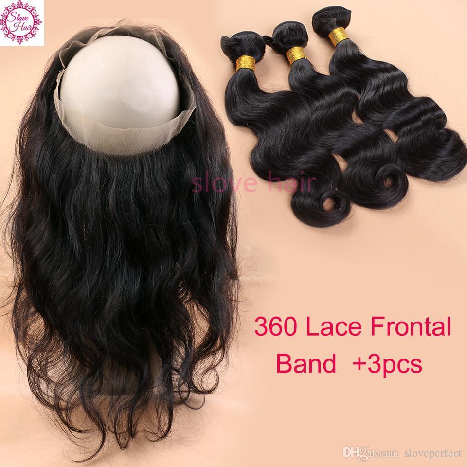 360 Spitze Frontal Schließung 8A Körperwelle Spitze Frontals mit Baby-Haar Malaysische Jungfrau Haarspitze Frontal 360 gebleichte Knoten