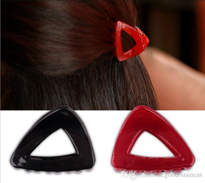 Candy Hollow triangle hair clips women crab claws accessories girl Hair Claws Simple Ponytail Clip Bangs Holder Hairpin Clamp
