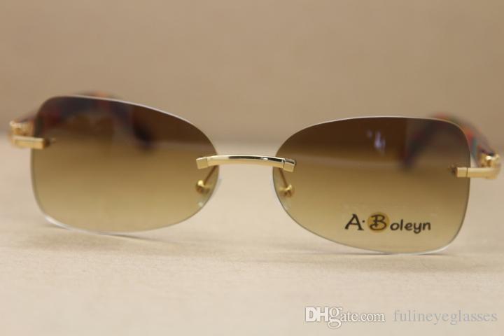 Wholesale Decor Wood frame men T8100864 Sunglasses gold wood glasses Hot frames Frame Size:59-18-135 mm