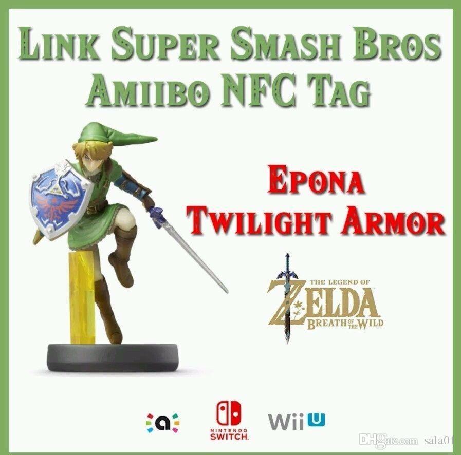 Link Super Smash Bros  Amiibo Cartoncino NFC - La Leggenda di Zelda