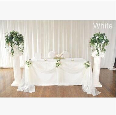 Wedding Table Skirt Decro Lace Ribbon 135*500cm Wedding Party Banquet Decro High Quality Bow Party Supplies
