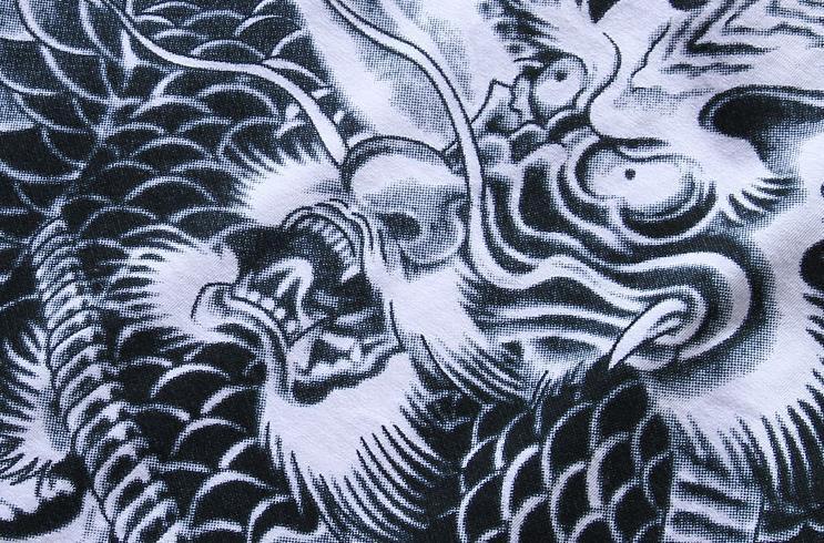 Tee-shirt à manches courtes pour hommes avec motif graphique Ukiyoe Japan Tattoo Art Design