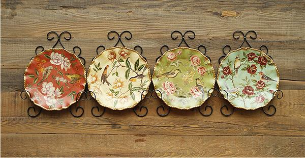 European Village Style Decoration/ Wall Decoration Ceramic Plate / Flower And Bird Hanging Plate Decoration Toy Novelties Toy Novelty From Jsy009 ... & European Village Style Decoration/ Wall Decoration Ceramic Plate ...