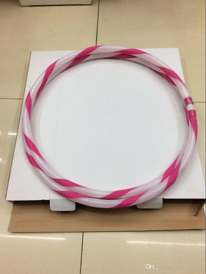 New Colorful Light Flash LED Plus Hula Hoop Glow in Dark Fitness Sports Fitness Body Building Equipments
