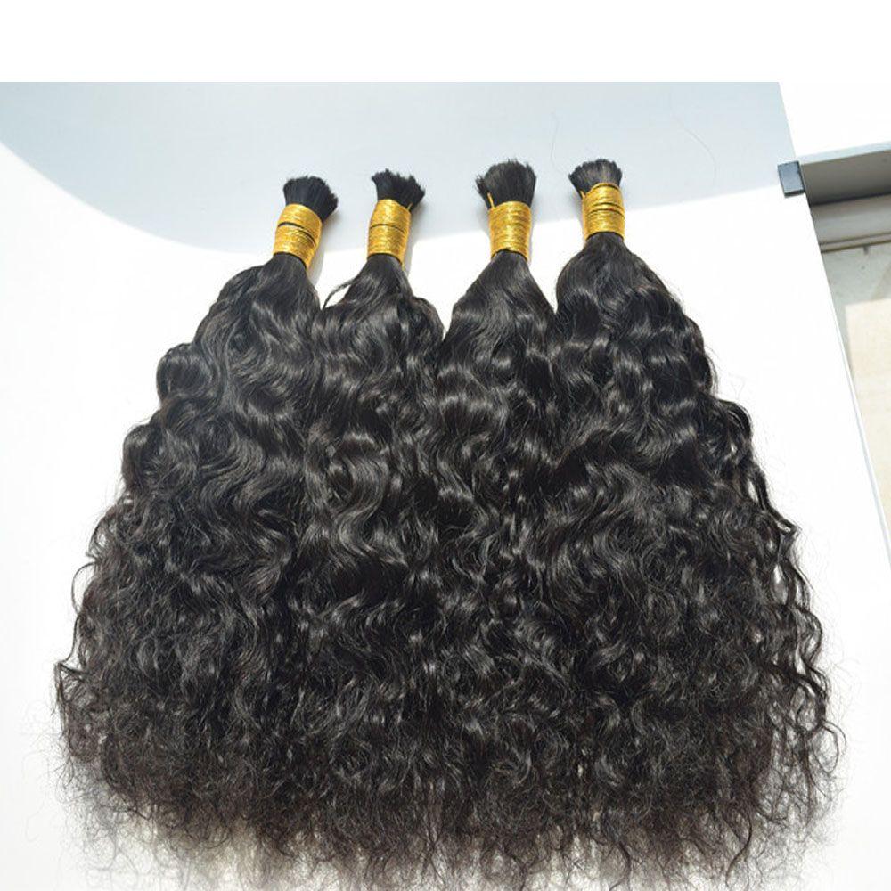 Stok İnsan Saç Örgüler Toplu doğal Dalga Hiçbir Atkı Islak Ve dalgalı Örgü Toplu Saç Su Dalgası Brezilyalı Perulu Malezya Saç 3 veya 4 adet