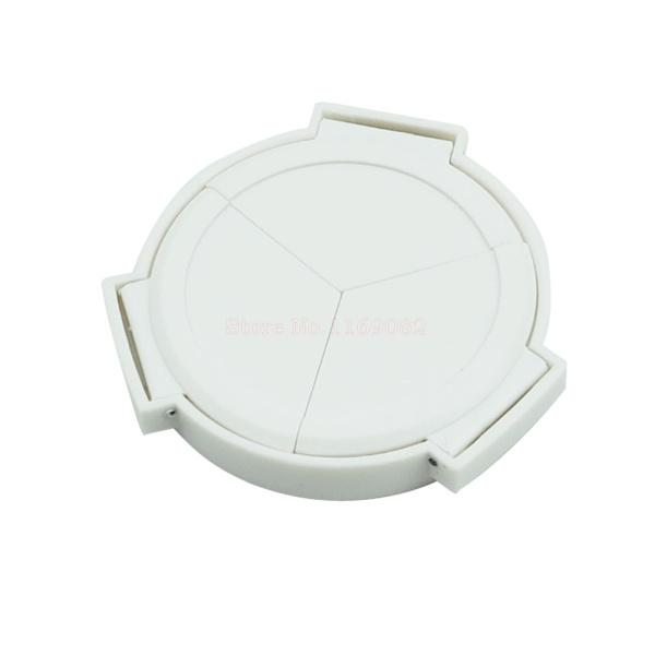 Wholesale-Shoot White color Self-Retaining Portable Auto Lens Cap Cover for  PANAS&NIC LUMIX DMC LX7 LX-7 LEICA D-LUX 6 camera 0 32-ULF04