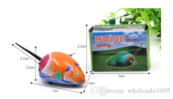 Nuevo Cute Childern's Classic Metal Iron Mouse Clockwork Toys juguetes vintage Wind Up Babies Funny Chinese Toys YH999