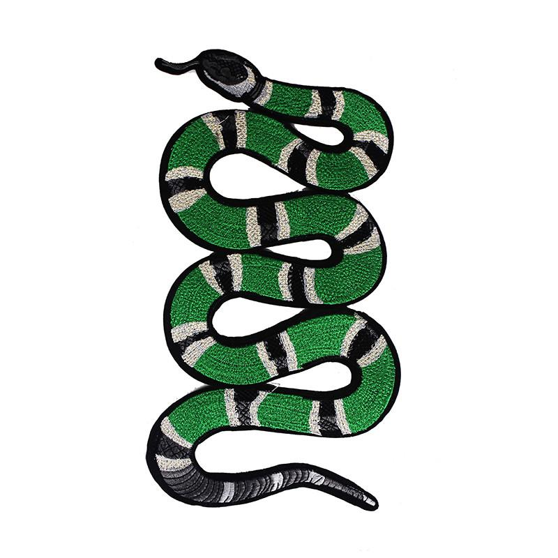 Compre 1 Pieza Verde Serpiente Patrón Bordado Applique Parche ...