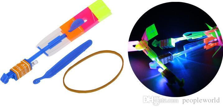 DHL Special Sale! Newest Toy LED Amazing Arrow Helicopter Flying Umbrella LED Flyer LED Arrow Helicopter