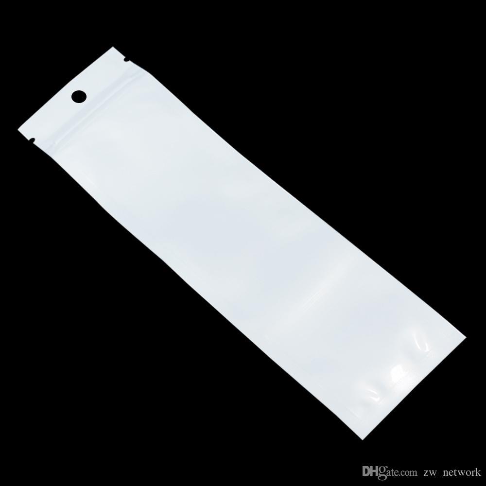 Sacos de embalagem Branco / Claro Auto Seal Zipper Saco de Plástico Pacote de Embalagem de Varejo Saco Poli Ziplock Zip Bloqueio Saco de Armazenamento Pacote Pendurar Buraco 77