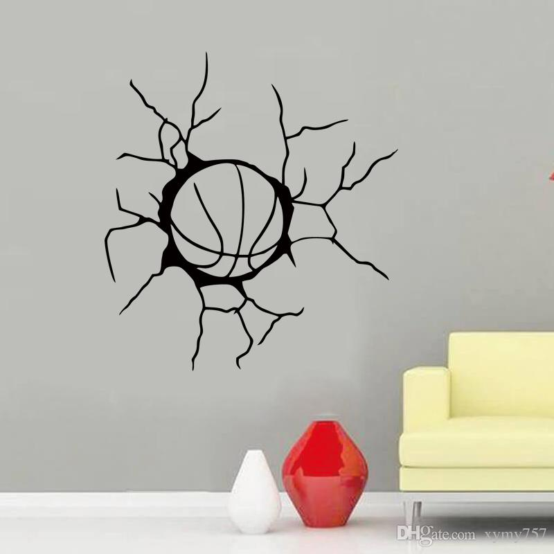 Wall Decal Sticker Basketball Sports Team Game Ball Bedroom Home Interior Vinyl Decals Art Of High Quality Frescoes