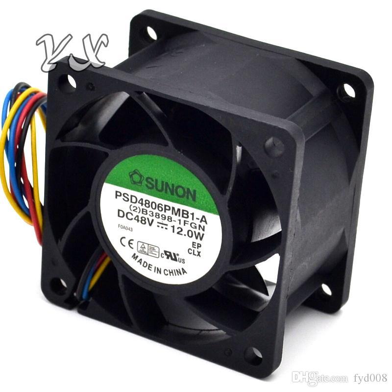 Nuevo servidor 6DM 6038 48V 12W PSD4806PMB1-A del ventilador de 4 hilos 60 * 60 * 38mm