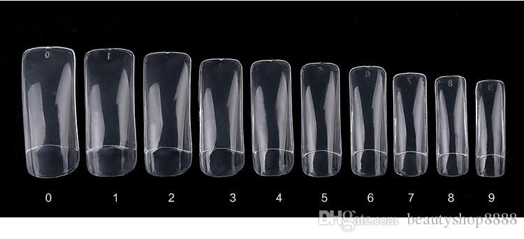 Fal Nails Tips Naturel Clair FrenchKorean Acrylique Artificielle Faux Nail Art Décoration Pro Full / Half Nails Astuce En Gros