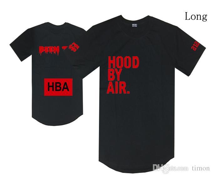 capuche par air t-shirt HBA été trille tees streetwear hip hop noir casual long tops hommes femmes coton o cou s-xxl discount