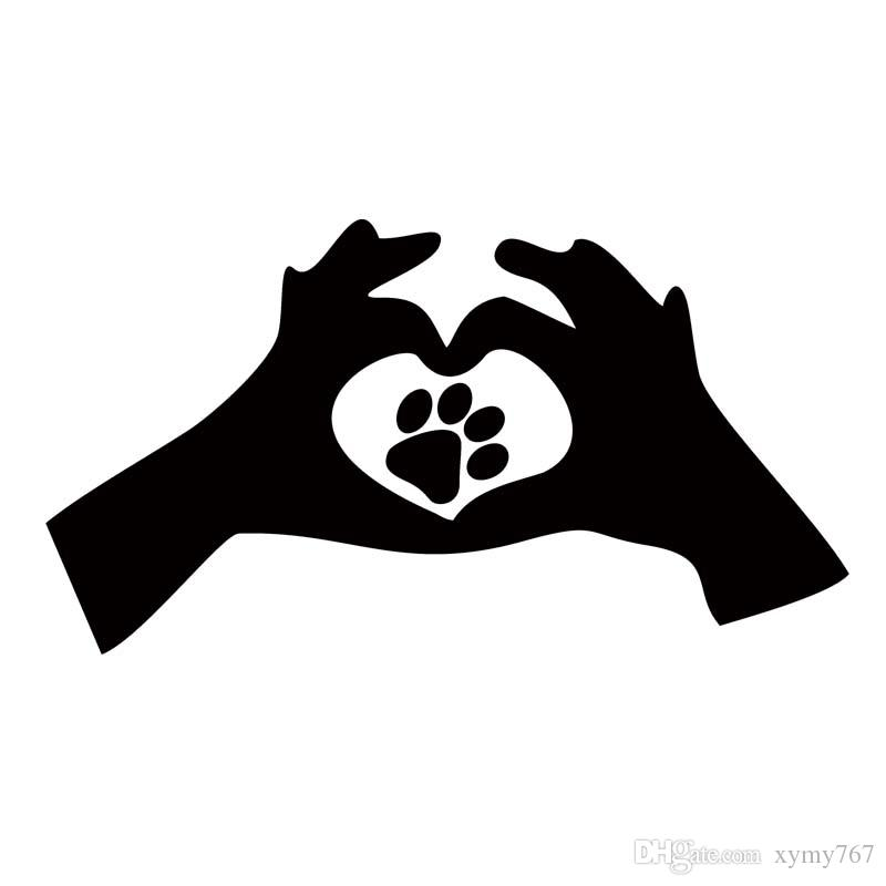 2018 hot sale product for love paw print cat dog interesting car sticker car styling vinyl decal car window from xymy767 1 21 dhgate com