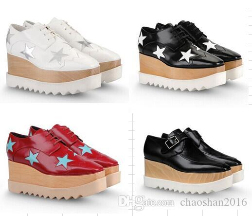 820ee3ce06c 2017 New Wholesale Stella Mccartney Shoes Woman Shoes Platform Elyse Star  Wedge Britt Lace Up Shoes Cheap Heels Comfort Shoes From Chaoshan2016