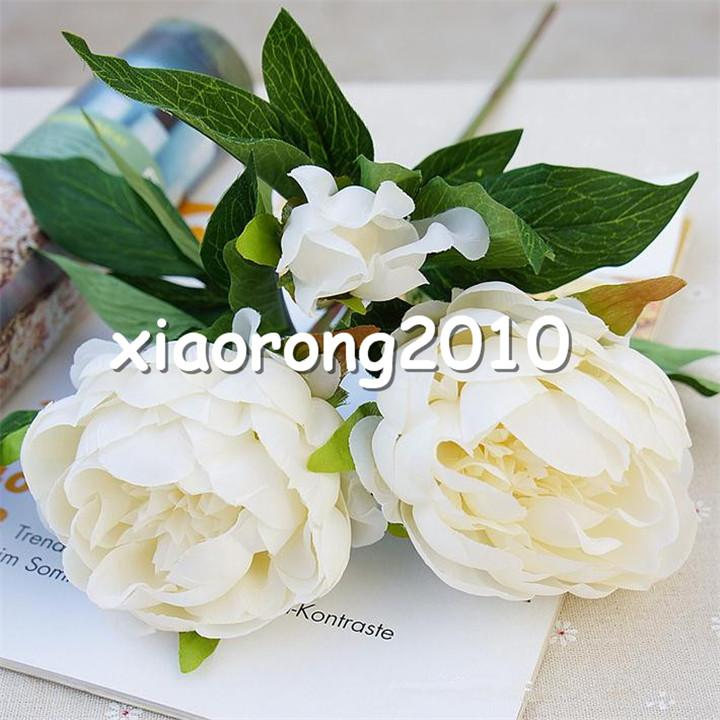 """HOT Fake Peony 3 heads/piece 50cm/19.69"""" Length Artificial Peony Flowers Camellia for DIY Bridal Bouquet Accessories Available"""