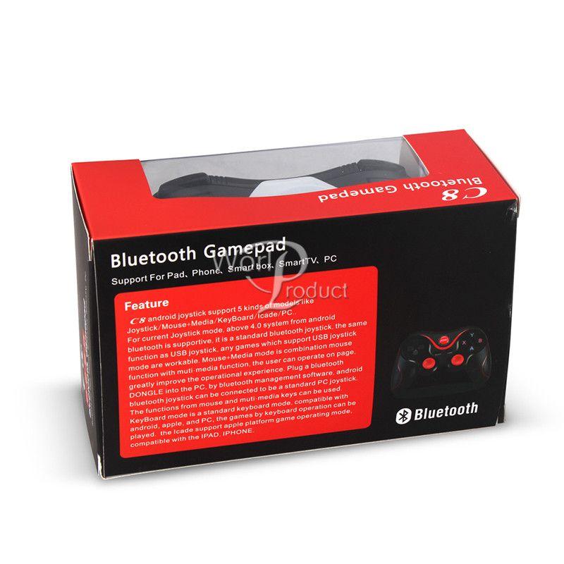 T3 C8 Smart Phone Game Controller Wireless Joystick Bluetooth 3.0 Android Gamepad Gaming Fernbedienung für PC Telefon Tablet