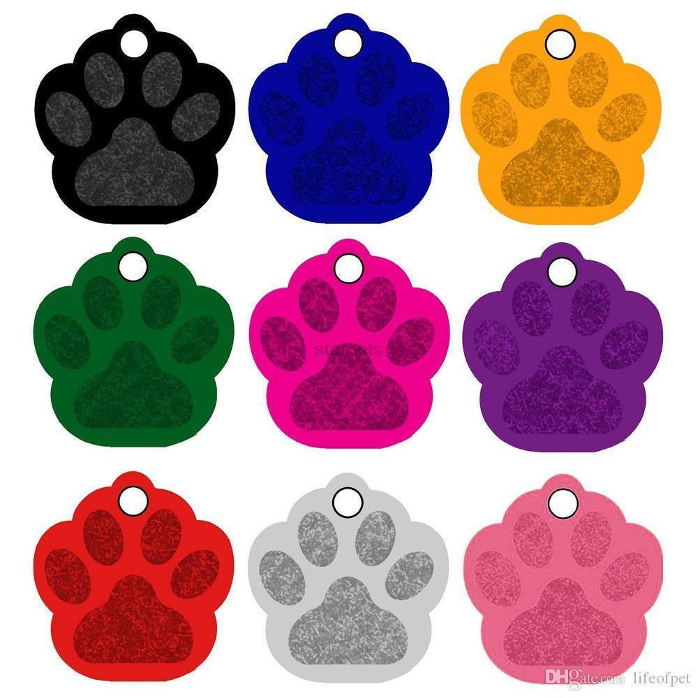 / Özel Kişiselleştirilmiş Oyma Pet Kimlik Etiketi Kemik Paw 6 Şekiller Kimlik Köpek Kedi Charm Çift Taraflı Etiket