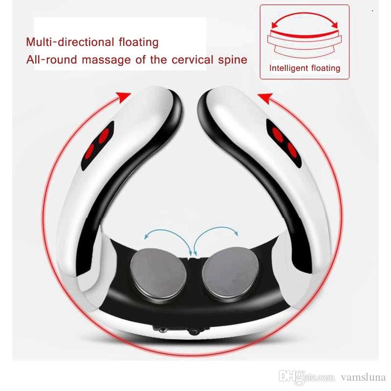 Electric pulse Wireless Remote Control Neck massager Impulse Cervical Vertebra Treatment full body massage Acupuncture magnetic therapy