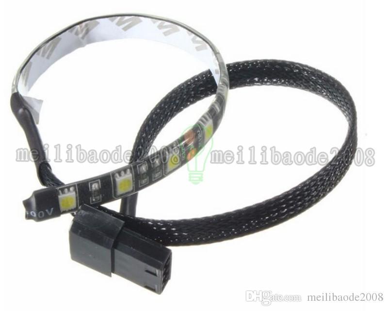 4 Pin 5050 12 LED Light Neon Adhensive Strip Waterproof Dustproof Computer Case Flexible Strip Lamp DC12V LED MYY