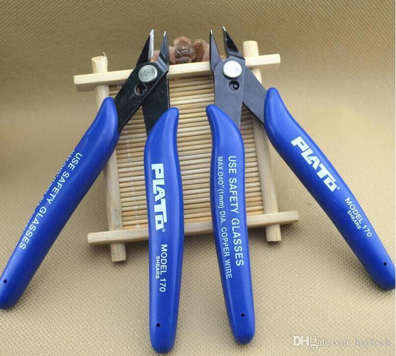 Free DHLPlato 170 Flush Cutter Wire Cutter Nipper Mini Pinza Pinza Taglio cesoie Strumento DIY RDA riscaldamento bobina stoppino atomizzatore ricostruibile
