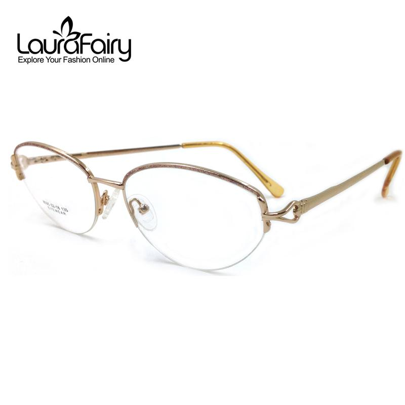 ece522b86a Compre Al Por Mayor Laura Fairy Retro Gold Glasses Mujeres Optical Classic  Style Full Rim Monturas De Gafas Monturas De Lentes Mujer 2016 A $40.7 Del  ...