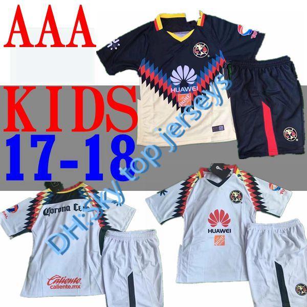 a183ce8c211 Club America Aguilas Kids Kit 2017 2018 New Camiseta League Soccer ...