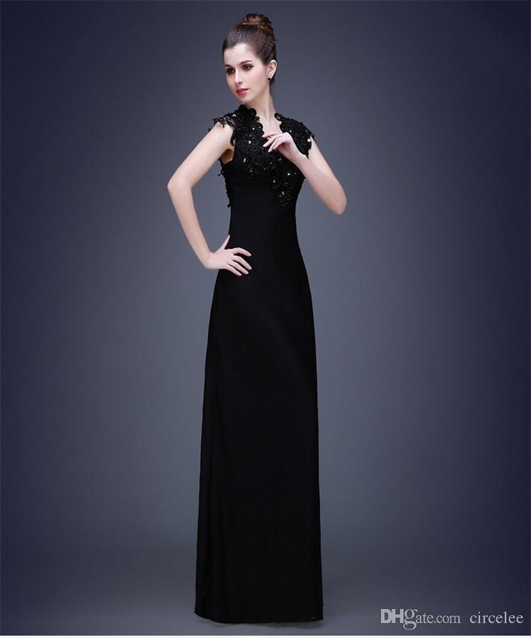 7f97b129724a5 Satın Al Kadın Parti Elbiseler Çevrimiçi Circelee Noel Abiye Örgün Giyim  Siyah Uzun Tatil Parti Elbise V Yaka Fantezi Elbise, $138.99 | DHgate.Com'da