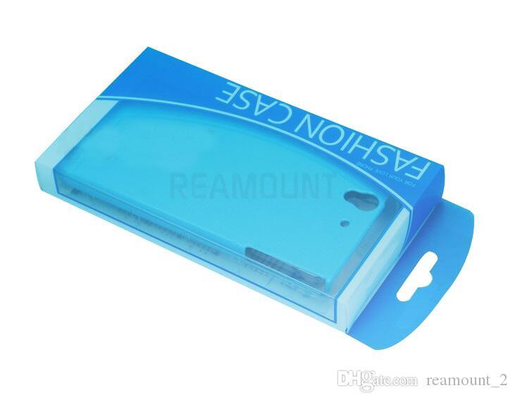 En gros Couleurs Personnalité Design Label PVC Emballage Emballage Au Détail Boîte pour iPhone 5 6 7 Téléphone Cellulaire Cas Cadeau