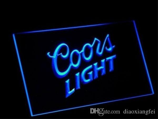 2019 Coors Light Beer Bar 3d Signs Culb Pub Led Neon Light