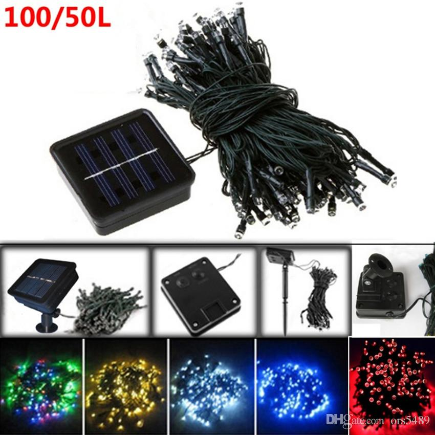 cheap 100 clear white wire light set holiday wonderland christmas light set blue 100 mini lights solar rechargeable battery installed green string lights - White Christmas Lights Cheap
