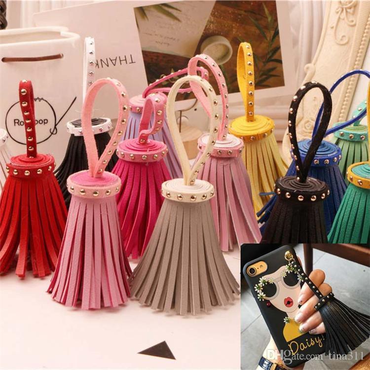 Wholesale - New multi color phone pendant hand made pendant female bag pendants Keychains Jewelry pendant CA022