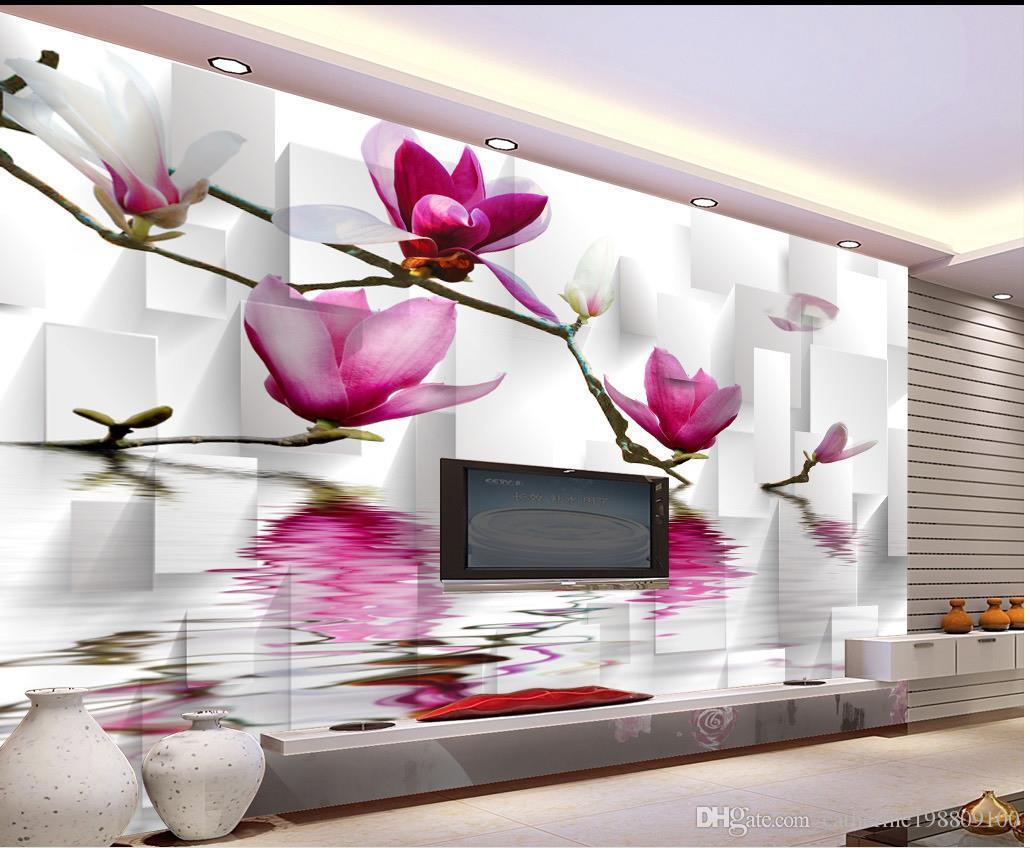 luxury european modern water magnolia flower background wall mural luxury european modern water magnolia flower background wall mural 3d wallpaper 3d wall papers for tv backdrop wallpaper for desktop background wallpaper