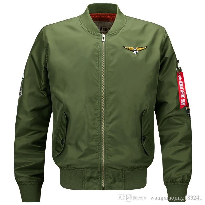 Mens Ma01 Pilot Bomber Jacket Military Airforce Army Green Hip Hop ...