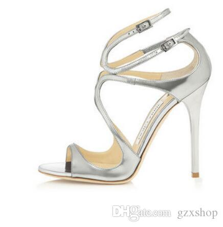 2017 summer fashion gold pumps for women sexy thin high heels sandals women new brand party wedding sandals shallow dress shoes