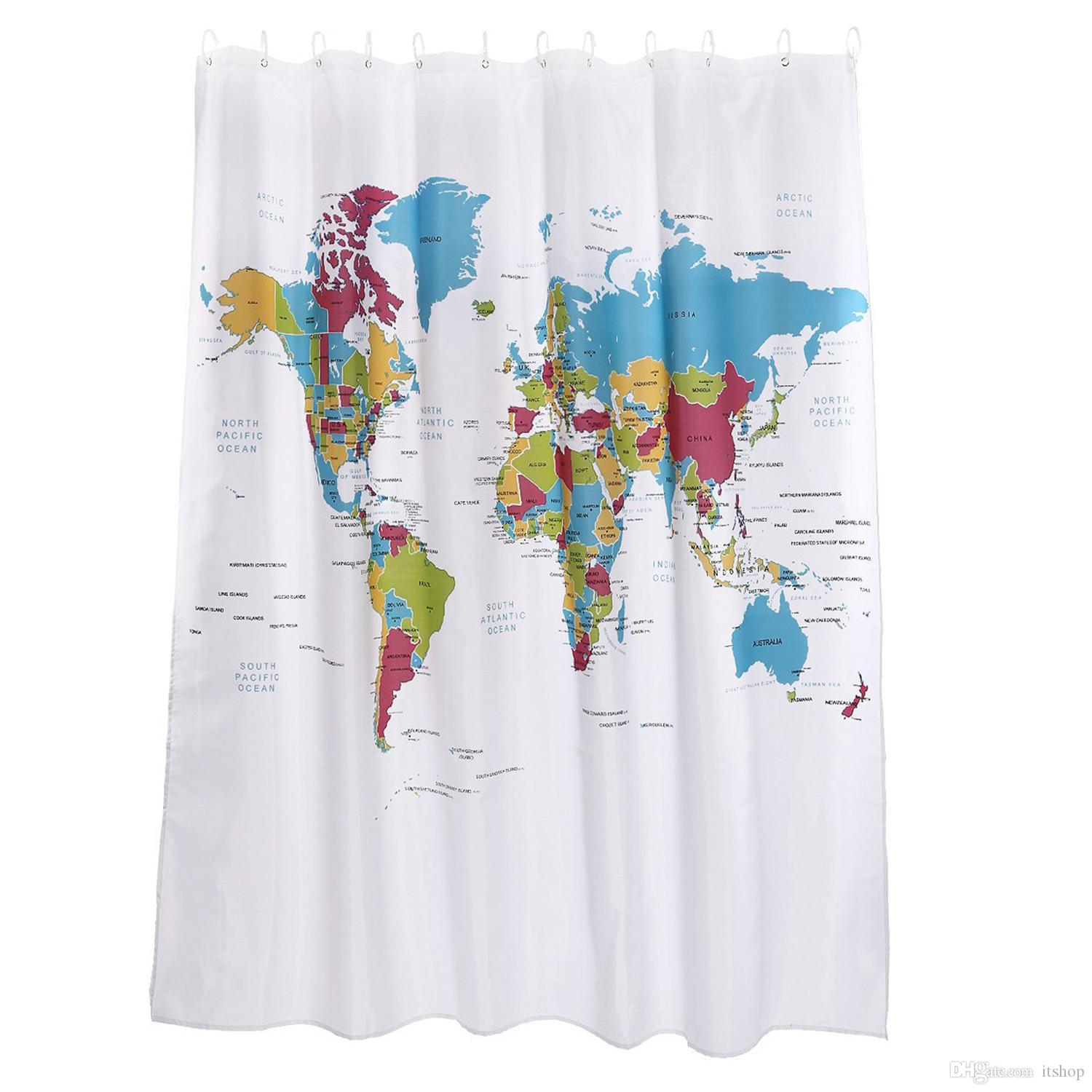 Colorful shower curtain - See Larger Image