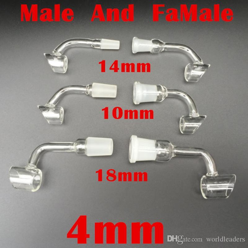 Yeni XL Kuvars Banger Kuvars Tırnak Ile 2.2mm Kalın 25mmOD 10mm 14mm 18mm Ortak 45 90 Derece Kubbesiz Kuvars Bangers Nails