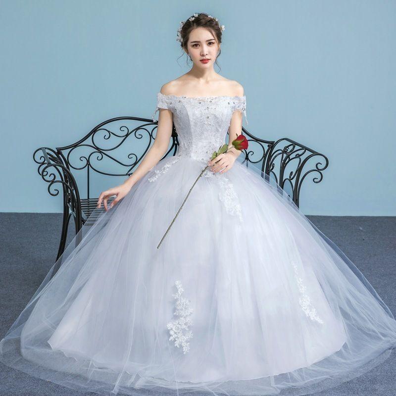 Wedding Dress 2017 New The Boat Neck Transparent Shoulder With ...