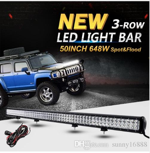 50inch 648w 3 row cree chips led offroad light bar combo led work 50inch 648w 3 row cree chips led offroad light bar combo led work light bar driving lamp 12v 24v truck suv 4wd pickup 4x4 led for light led lamp from aloadofball Images