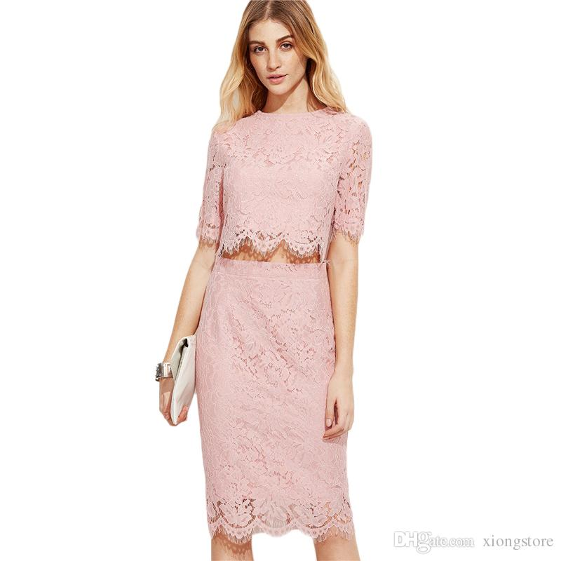 ef835bf71a Women dresses Vintage Lace Dress Women Pink Open Midriff Floral Lace Summer  Party Dresses 2019 half sleeve Sexy Elegant Bodycon Dress