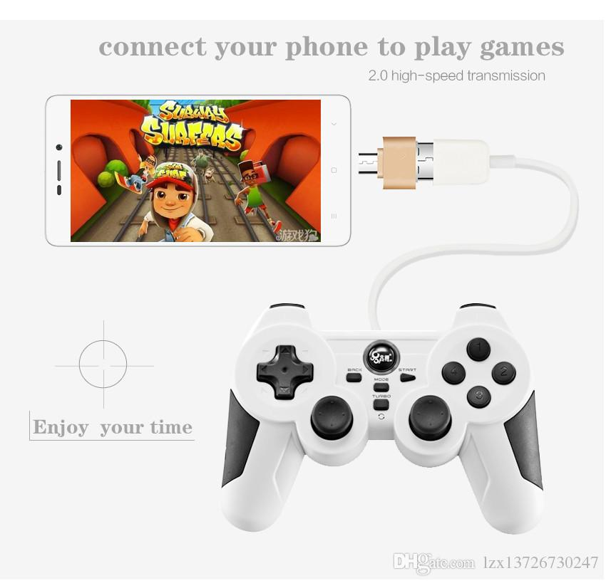 OTG Hug 2.0 Converter محول OTG Micro USB إلى USB Hub لمصغرة قارئ بطاقة كبل الهاتف المصغر الذي يعمل بنظام Android
